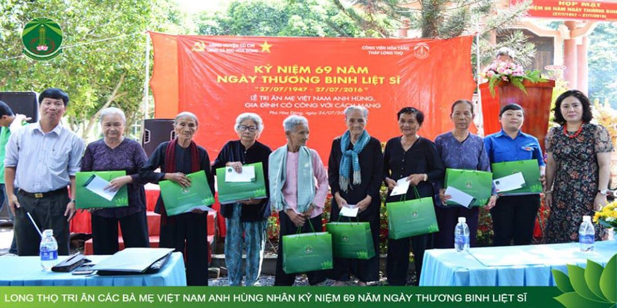 Tháp Long Thọ tri ân các mẹ Việt Nam anh hùng và gia đình có công với cách mạng