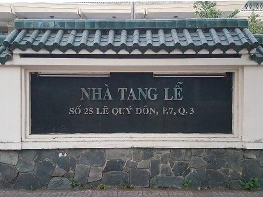 Nhà Tang Lễ Lê Quý Đôn Quận 3